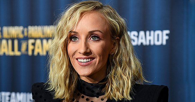 Check Out Olympic Gymnast Nastia Liukin's Incredibly Tiny Waist in This Tight Black Dress