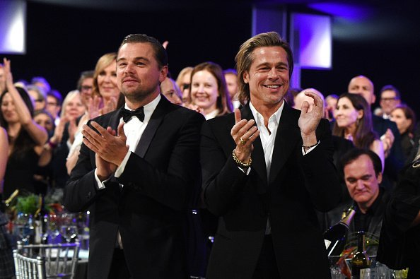 Leonardo DiCaprio and Brad Pitt at The Shrine Auditorium on January 19, 2020 in Los Angeles, California. | Photo: Getty Images