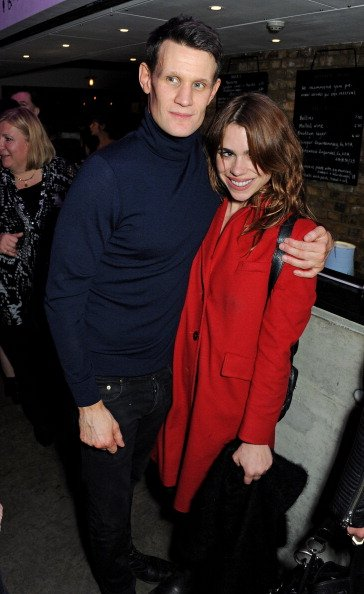 Matt Smith and Billie Piper at The Almeida Theatre on December 12, 2013 in London, England. | Photo: Getty Images