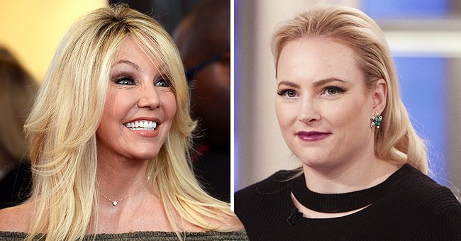 """Heather Locklear atthe """"Too Close To Home"""" screeningon August 16, 2016, in Beverly Hills, California and Meghan McCain on """"The View"""" on January 8, 2018 