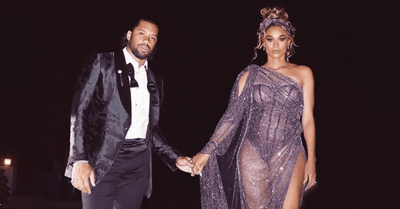 Ciara Stole Spotlight in Sheer Sequined Dress as She Attended Vanity Fair Oscars After-Party with Russell Wilson