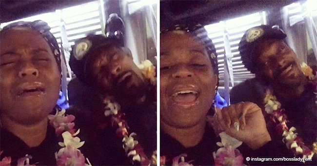 Snoop Dogg & his wife of 21 years look crazy in love while singing together in recent video