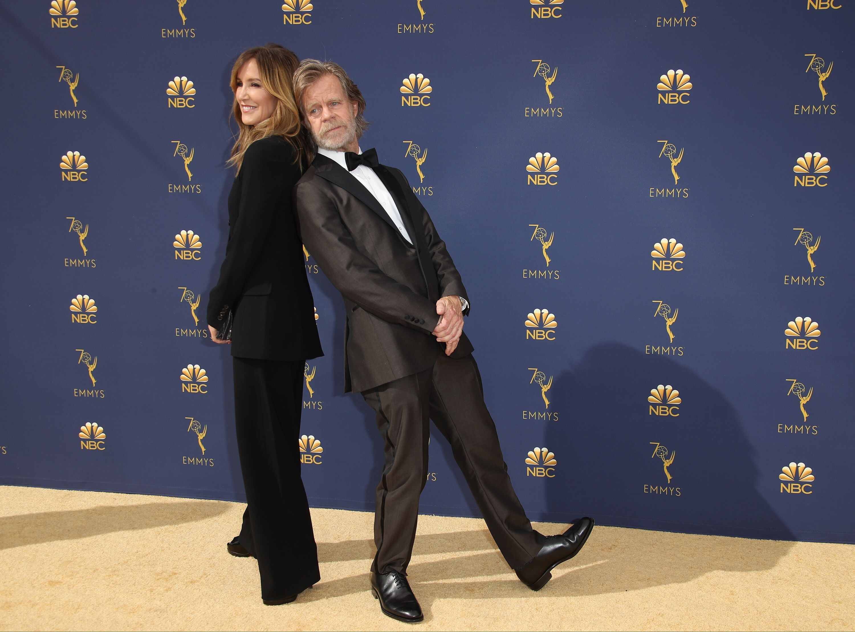 Felicity Huffman and William H. Macy attend the 70th Emmy Awards at Microsoft Theater on September 17, 2018 | Photo: Getty Images