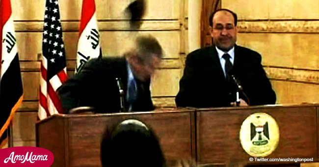 10 year anniversary of Iraqi journalist dramatically throwing his shoe at George W. Bush