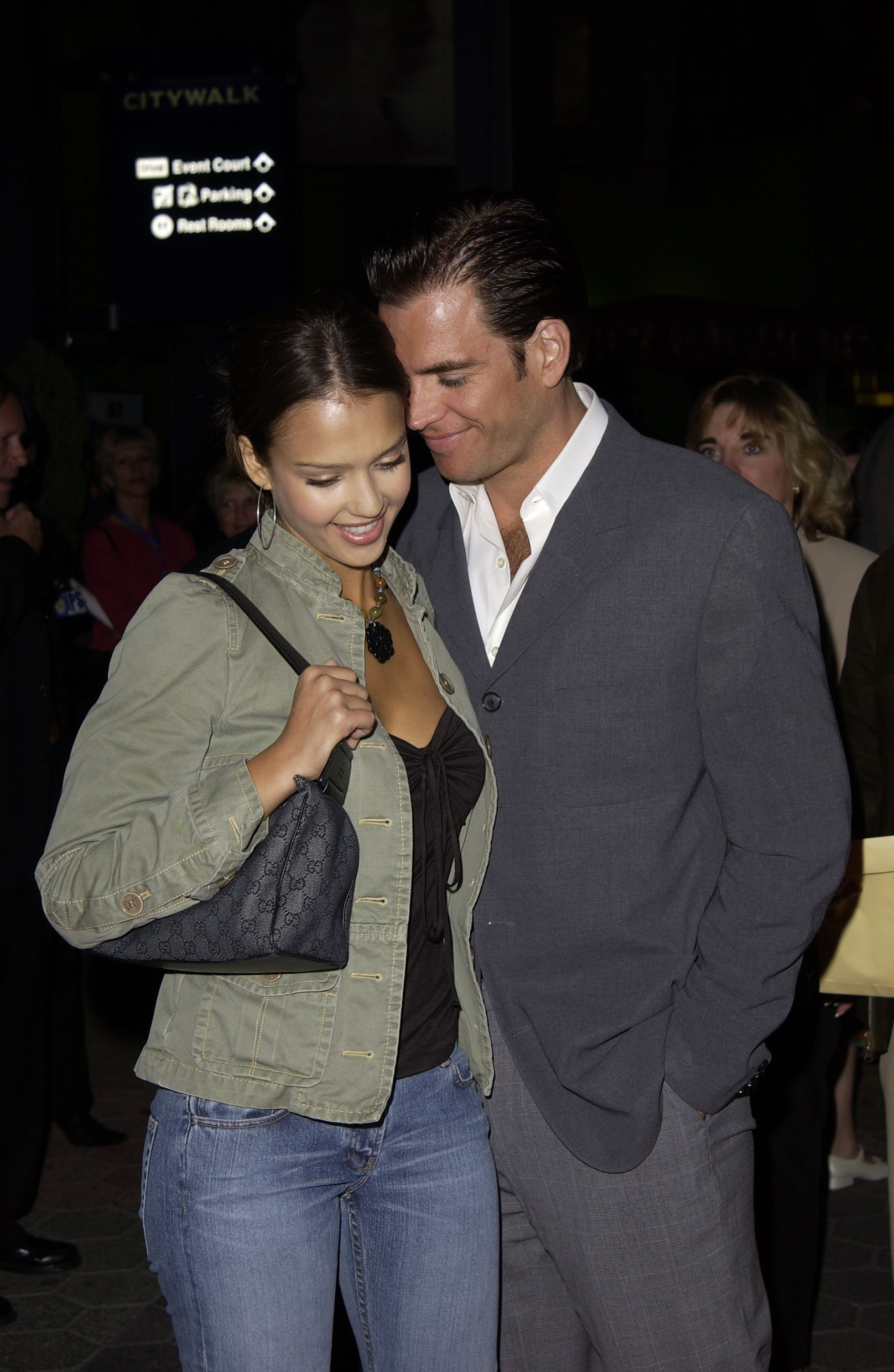 """Jessica Alba and Michael Weatherly attend the premiere of """"Ghosts of the Abyss."""" 
