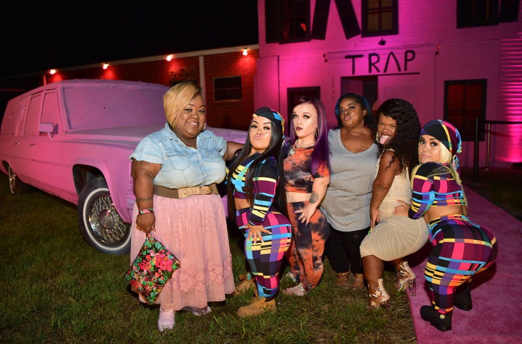 Tiffany Cashette, Amanda Salinas, Bri Barlup, Ms. Juicy, Andrea Salinas and Emily Fernandez attend the 2 Chainz Haunted Pink Trap House on September 19, 2018 | Source: Prince Williams/WireImage/GettyImages