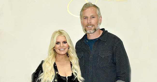 Jessica Simpson and Eric Johnson during a spring style event in Dillards at The Mall at Green Hills on April 7, 2018, in Nashville, Tennesse | Photo:John Shearer/Getty Images