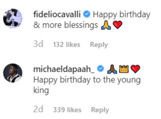 Fan comments on Drake's post for his son's birthday | Instagram: @champagnepapi