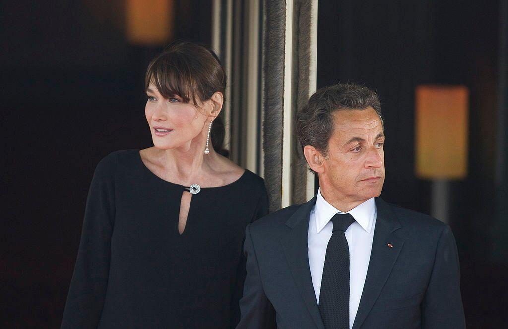 Nicolas Sarkozy et sa femme.   Photo : GettyImage