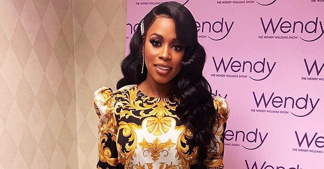 Remy Ma Is Epitome of Glamour in Chic Versace Dress in Photo from 'The Wendy Williams Show'