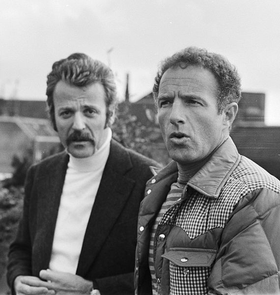 "William Goldman and James Caan in ""A Bridge Too Far,"" April 27, 1976.