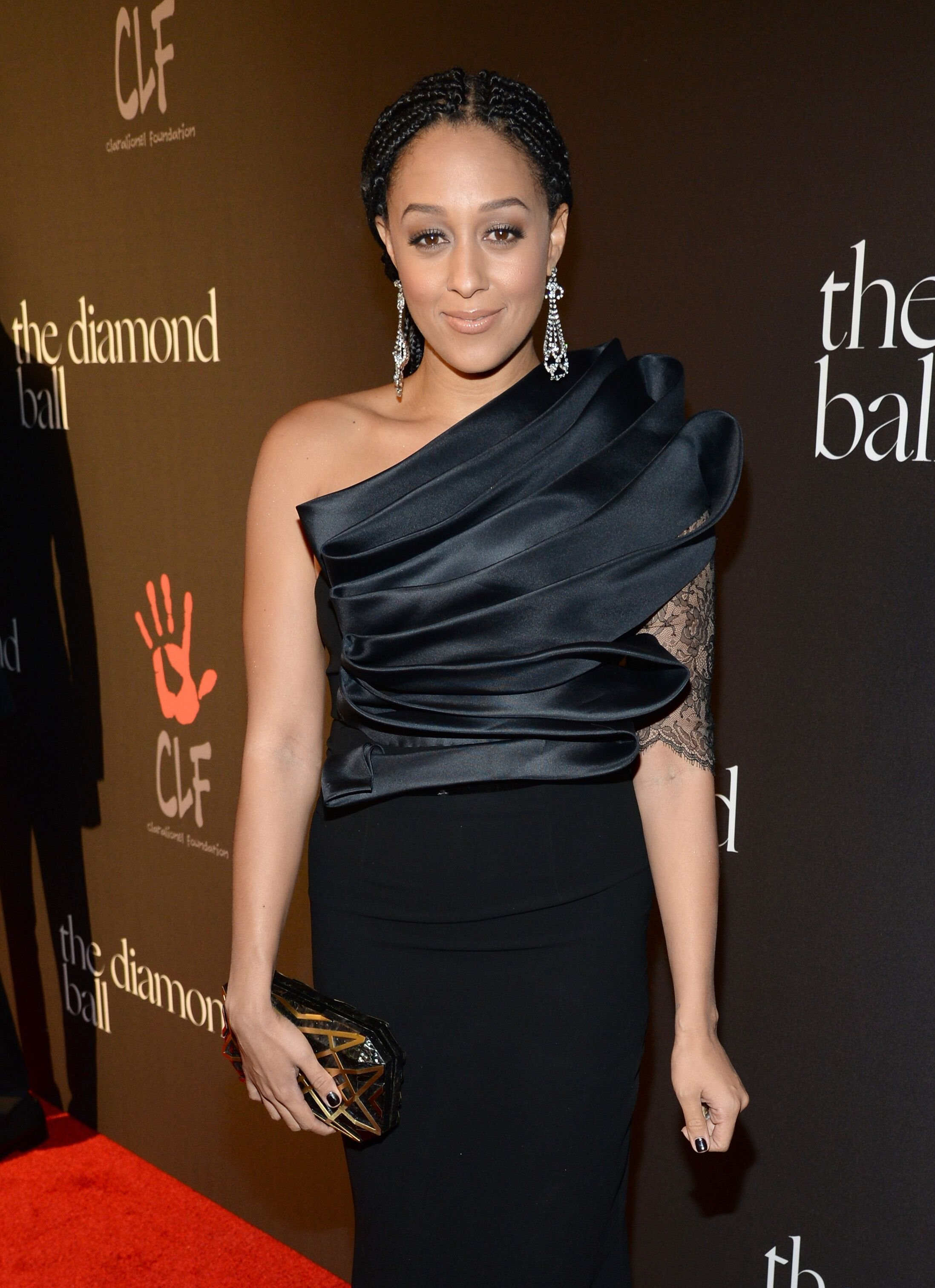 Tia Mowry-Hardrict arrives at Rihanna's First Annual Diamond Ball / Source: Getty Images