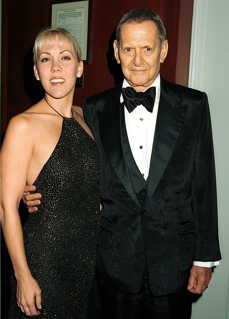 Tony Randall with his wife attend The Princess Grace Awards Gala October 23, 2000 | Photo: GettyImages