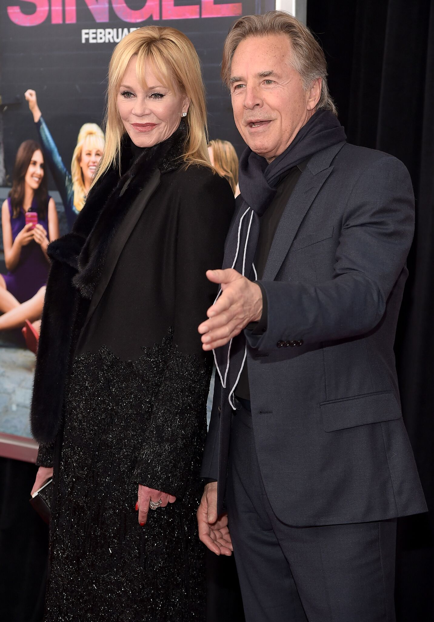 """Melanie Griffith and Don Johnson attend the New York premiere of """"How To Be Single."""" 