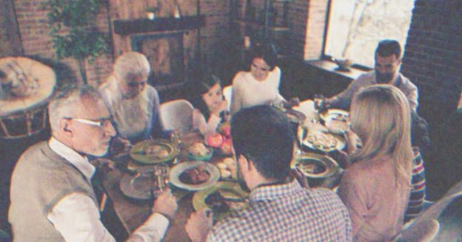 A family eating on the table.   Source: Shutterstock