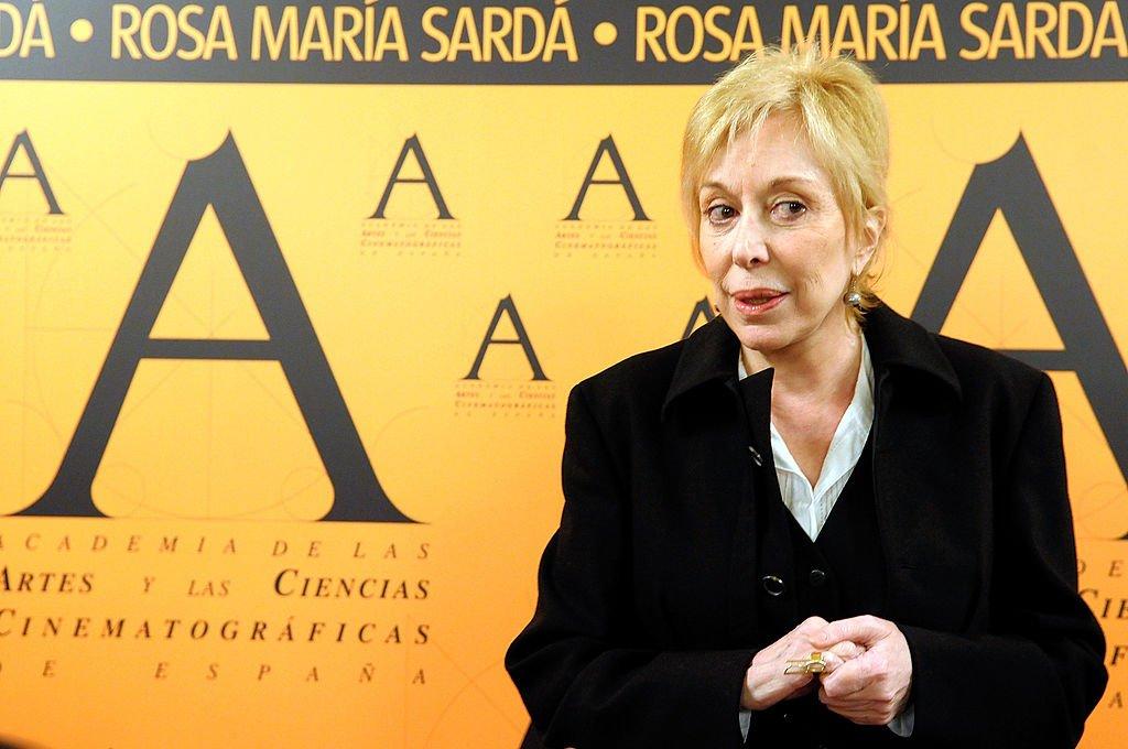 Rosa Maria Sarda en una rueda de prensa tras recibir la 'Medalla de oro'. | Foto: Getty Images