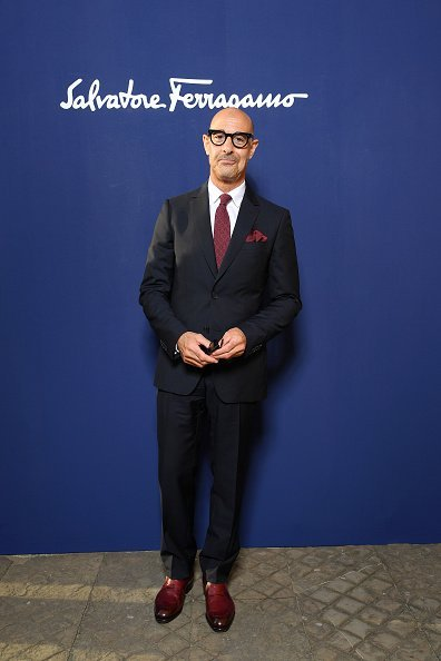 Stanley Tucci at the Salvatore Ferragamo show on June 11, 2019 in Florence, Italy   Photo: Getty Images
