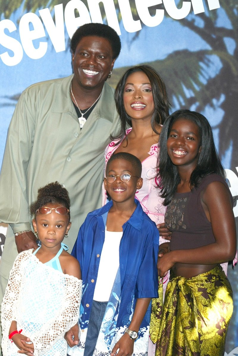 """Jeremy Suarez and his """"Bernie Mac Show"""" co-stars at Universal Amphitheater in Universal City, California, in 2002   Photo: Getty Images"""