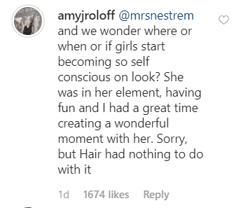Amy Roloff's reply to a user's comment on the Instagram post. | Source: Instagram/amyjroloff