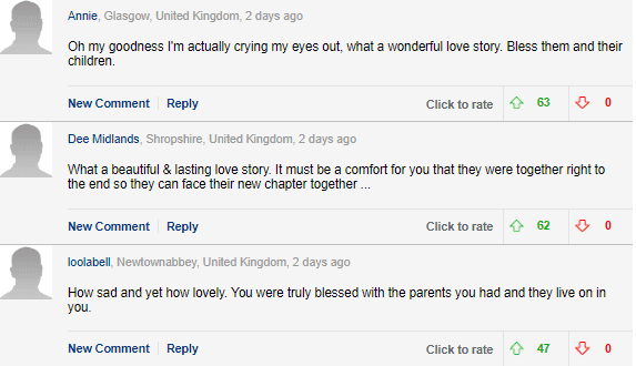 Readers reacting to the story - Daily Mail