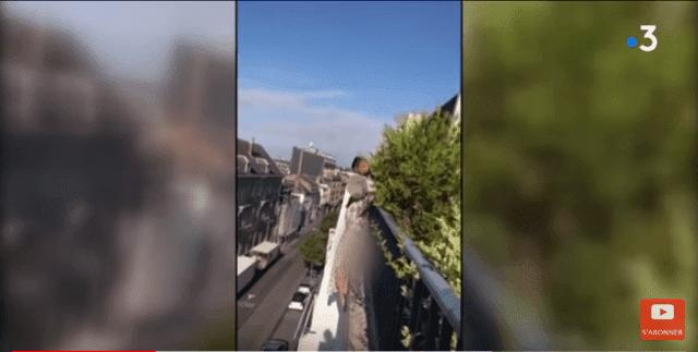 Mohamed Saïd en train de sauver la femme | Youtube / France 3 Hauts-de-France