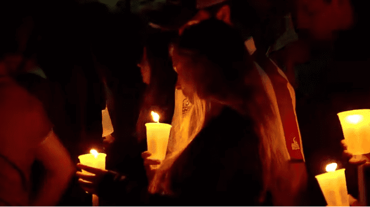 A candlelight vigil in memory of Samantha Josephson held in Columbia | Photo: ABC News