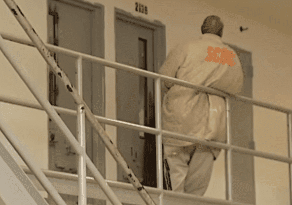 A South Carolina Department of Corrections inmate outside his cell | Photo: News 19 WLTX