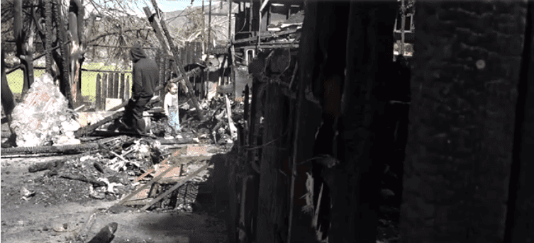 José's home was completely destroyed on the fire. | Source: 10news.com