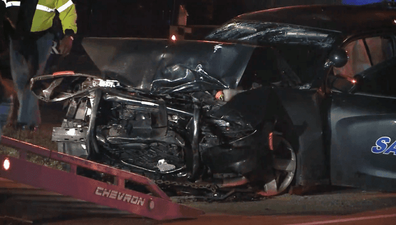 The front of the Sardis cruiser was destroyed after the impact. | Source: ABC13