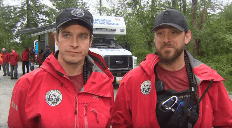 Bryan Moffatt and Brad Rennie from Ridge Meadows Search and Rescue | Photo: CBC News: The National