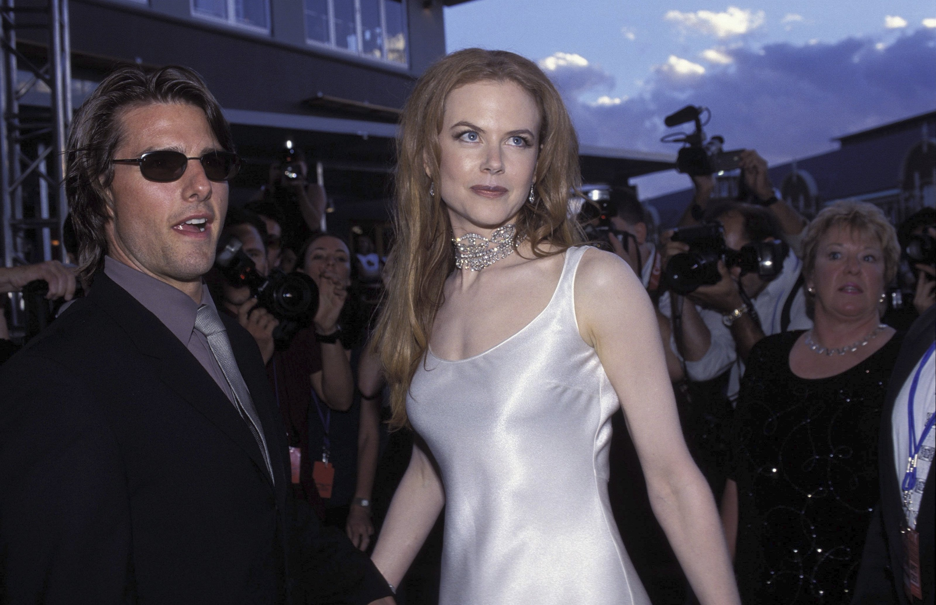 Nicole Kidman and Tom Cruise at the Fox Studios Gala opening in Sydney, Australia in 1999 | Photo: Getty Images