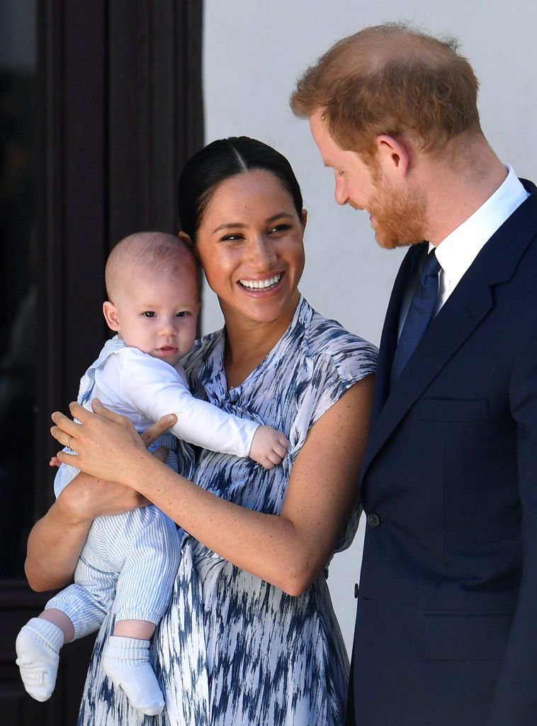 Prince Harry, Meghan Markle and their baby son Archie Mountbatten-Windsor meet Archbishop Desmond Tutu at the Desmond & Leah Tutu Legacy Foundation during their royal tour of South Africa. | Photo: Getty Images