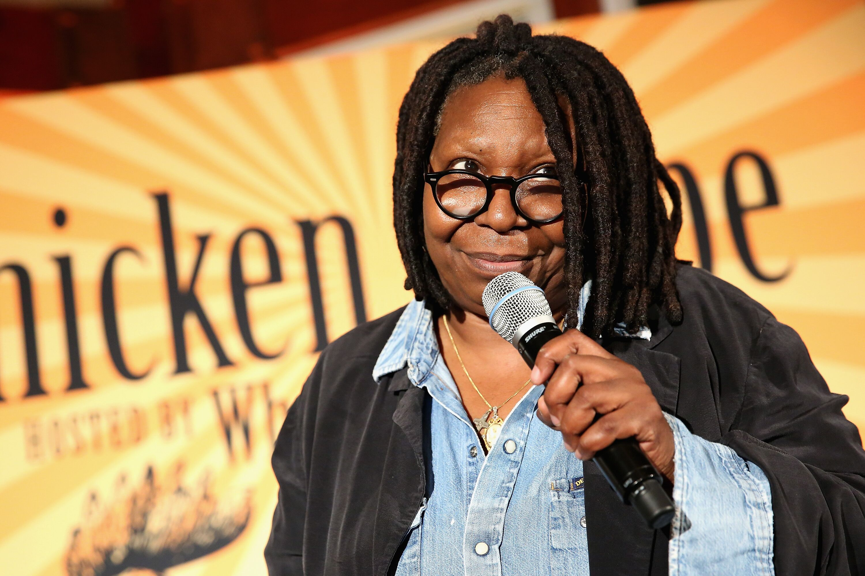 Whoopi Goldberg, speaks at Chicken Coupe during Food Network & Cooking Channel New York City Wine & Food Festival at The Loeb Boathouse on October 15, 2015. | Source: Getty Images