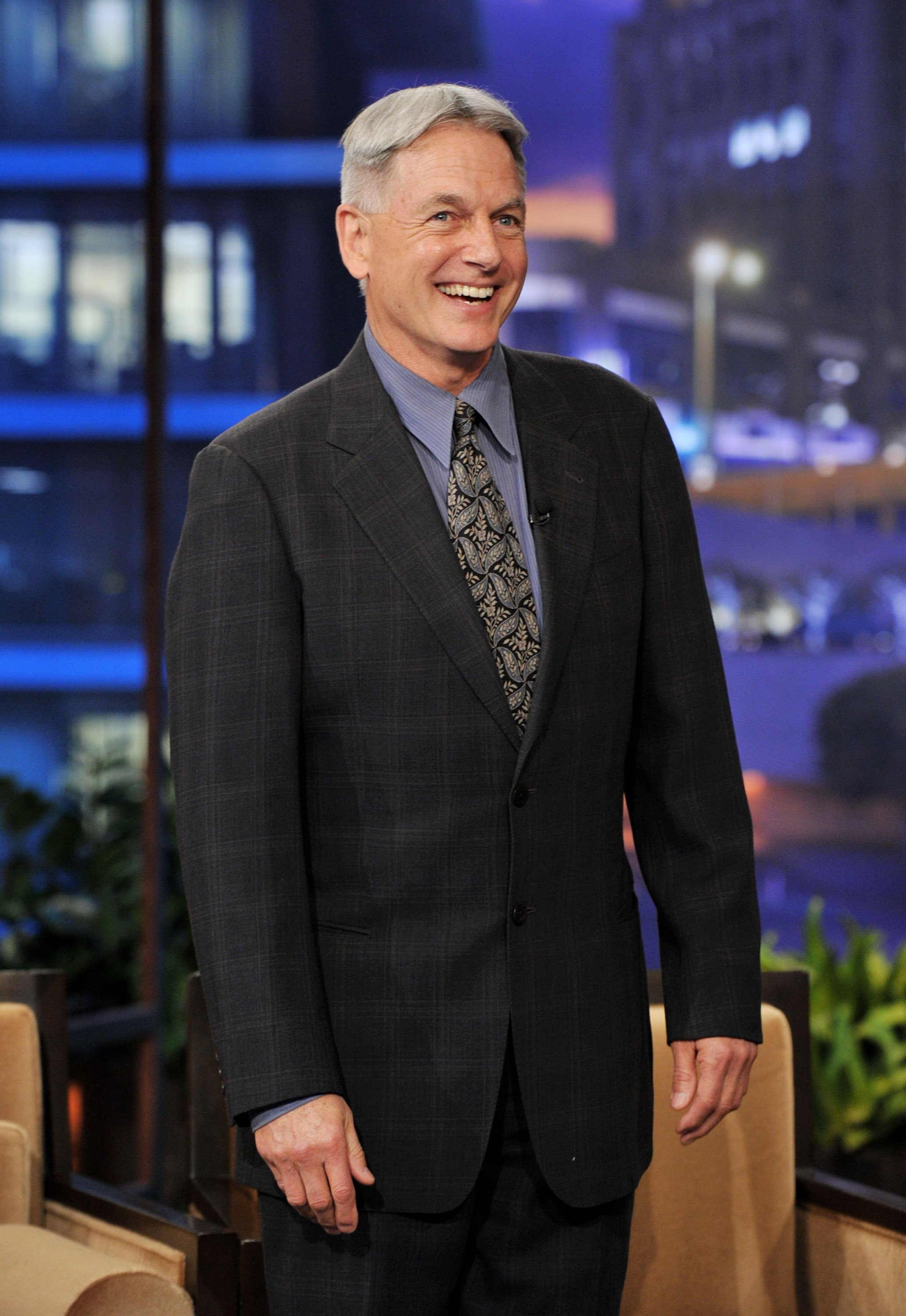 Mark Harmon in der Tonight Show mit Jay Leno bei den NBC Studios am 31. Januar, 2012 in Burbank, Kalifornien. | Quelle: Getty Images