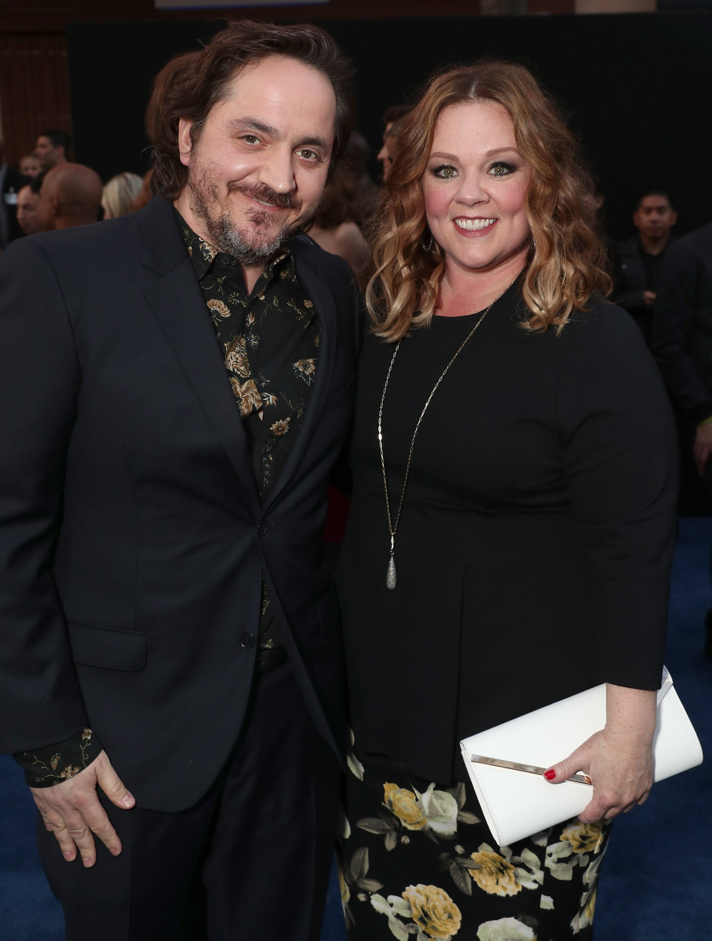 "Ben Falcone and Melissa McCarthy attend the premiere of Warner Bros. Pictures' ""CHiPS."" 