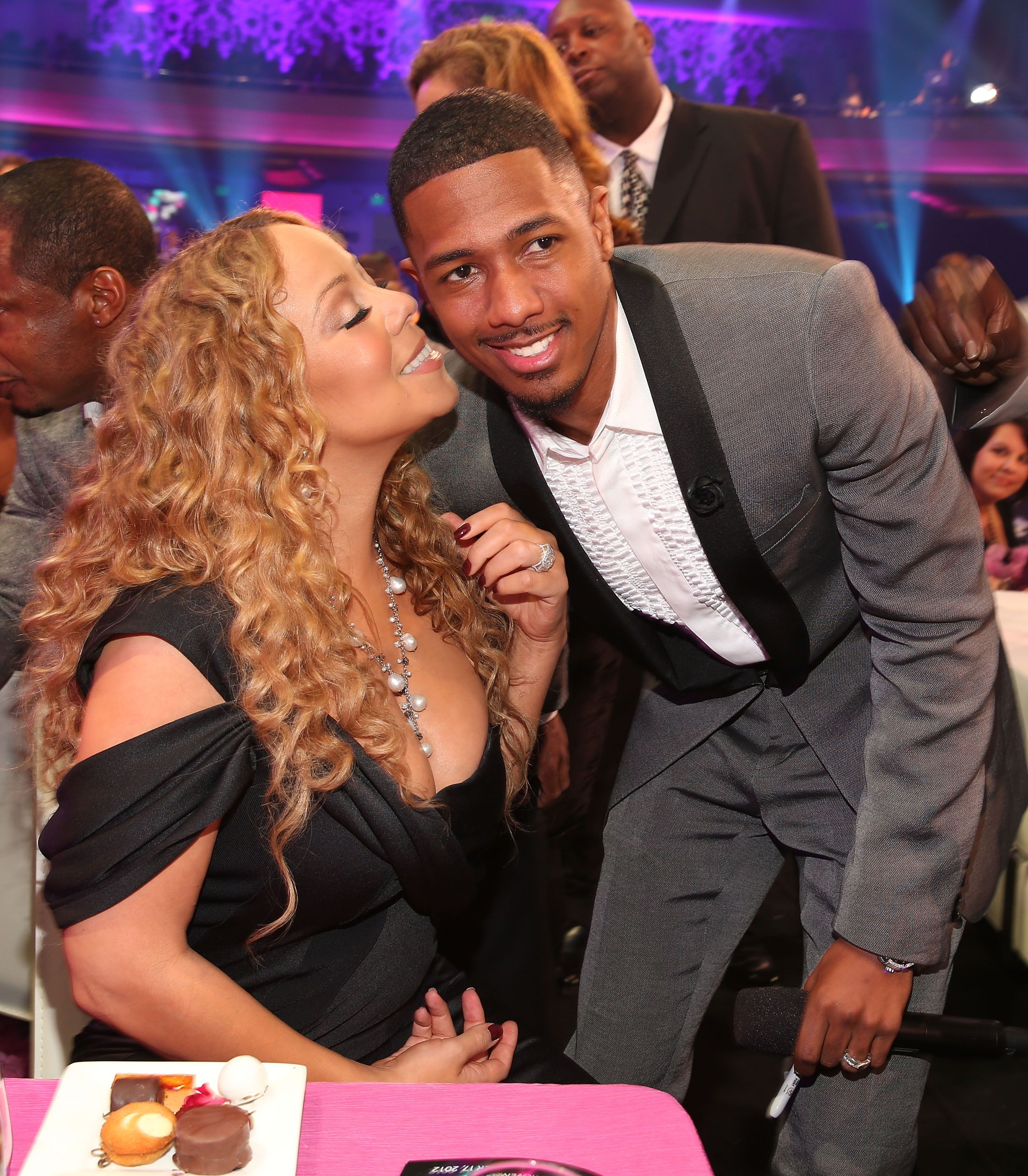 Mariah Carey and TeenNick Chairman and HALO Awards host Nick Cannon attend Nickelodeon's 2012 TeenNick HALO Awards at Hollywood Palladium on November 17, 2012 in Hollywood, California.   Source: Getty Images
