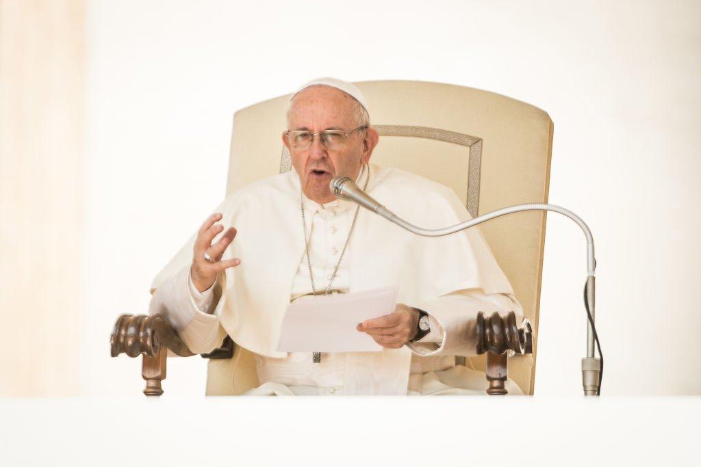 Francisco hizo su primera visita internacional el 22 de julio de 2013.| Fuente: Getty Images