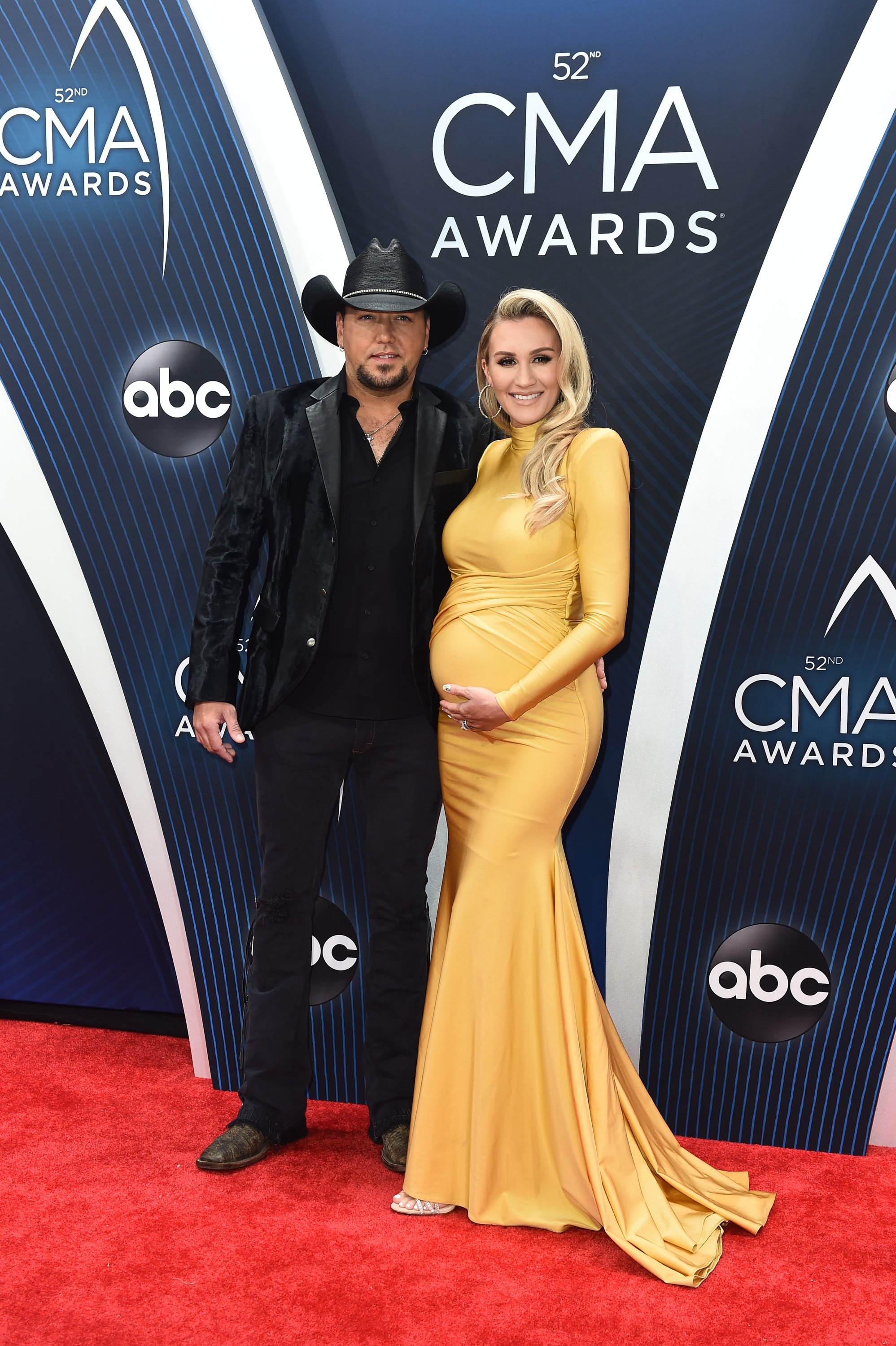 Brittany Aldean and husband Jason Aldean during a 2018 event in Nashville.   Photo: Getty Images