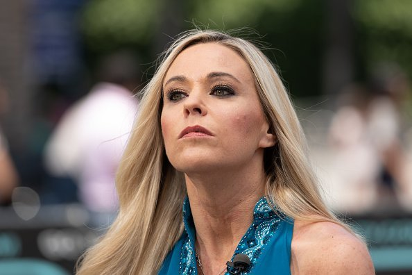"""Kate Gosselin visits """"Extra"""" at Universal Studios Hollywood on June 12, 2019 in Universal City, California"""
