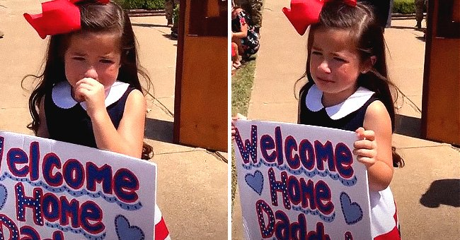 Jerri Dawn's daughter crying while waiting for her dad. | Source: TikTok/@texas_diamond