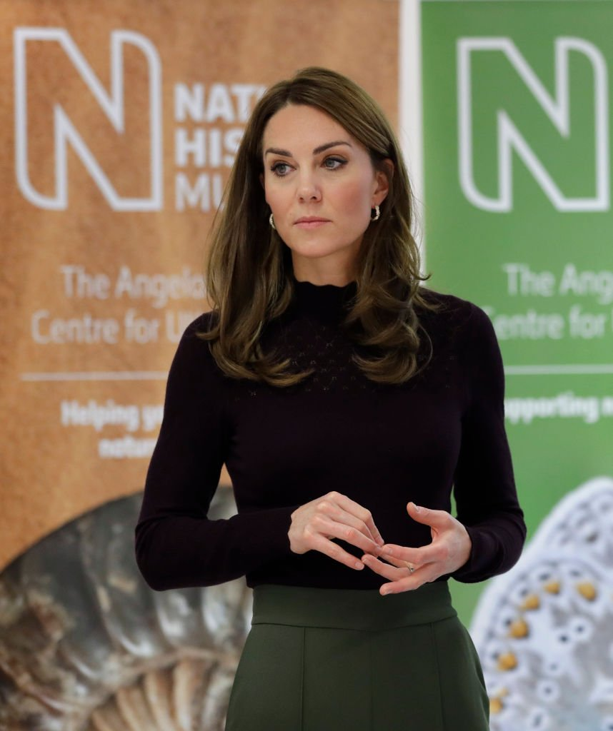 Kate Middleton during a visit to The Angela Marmont Centre For UK Biodiversity at Natural History Museum. | Photo: Getty Images
