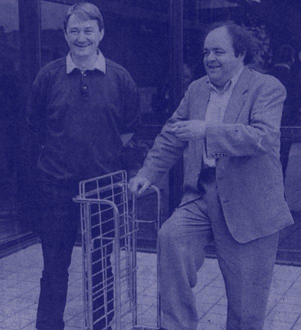 Jacques Villeret en tournée avec son ami Alain Meilland. l Source: Wikimedia Commons