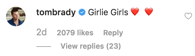 Tom Brady comments on a throwback picture of Gisele looking just the their daughter, Vivian Lake Brady | Source: instagram.com/gisele