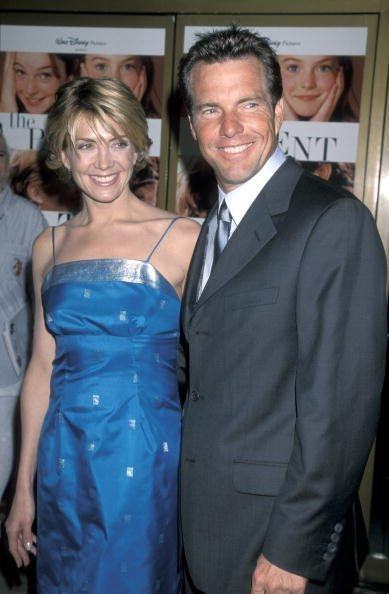 "Dennis Quaid and Natasha Richardson at ""The Parent Trap"" premiere in Los Angeles 