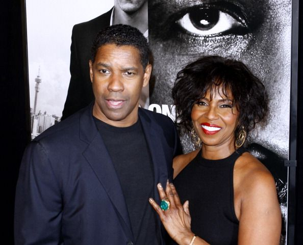 "Denzel and Paulette Washington at the ""Safe House"" premiere in New York in 2012 