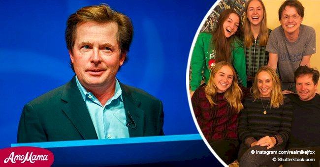 Michael J. Fox Poses With All 4 kids in a Rare Family Photo, and Son Sam is His Carbon Copy