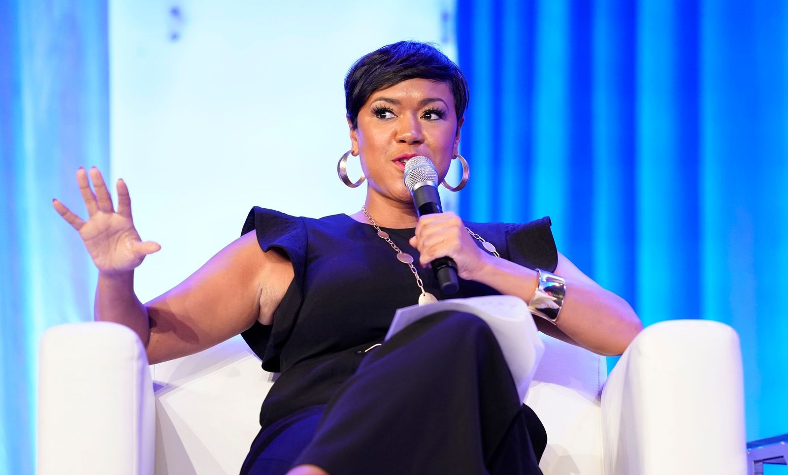Tiffany D. Cross of The Beat DC speaks on stage at Texas Conference For Women 2019 at Austin Convention Center on October 24, 2019   Photo: Getty Images