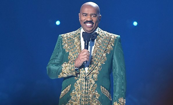 Steve Harvey speaking onstage during 2019 Miss Universe Pageant at Tyler Perry Studios on December 08, 2019 in Atlanta, Georgia.| Photo:Getty Images