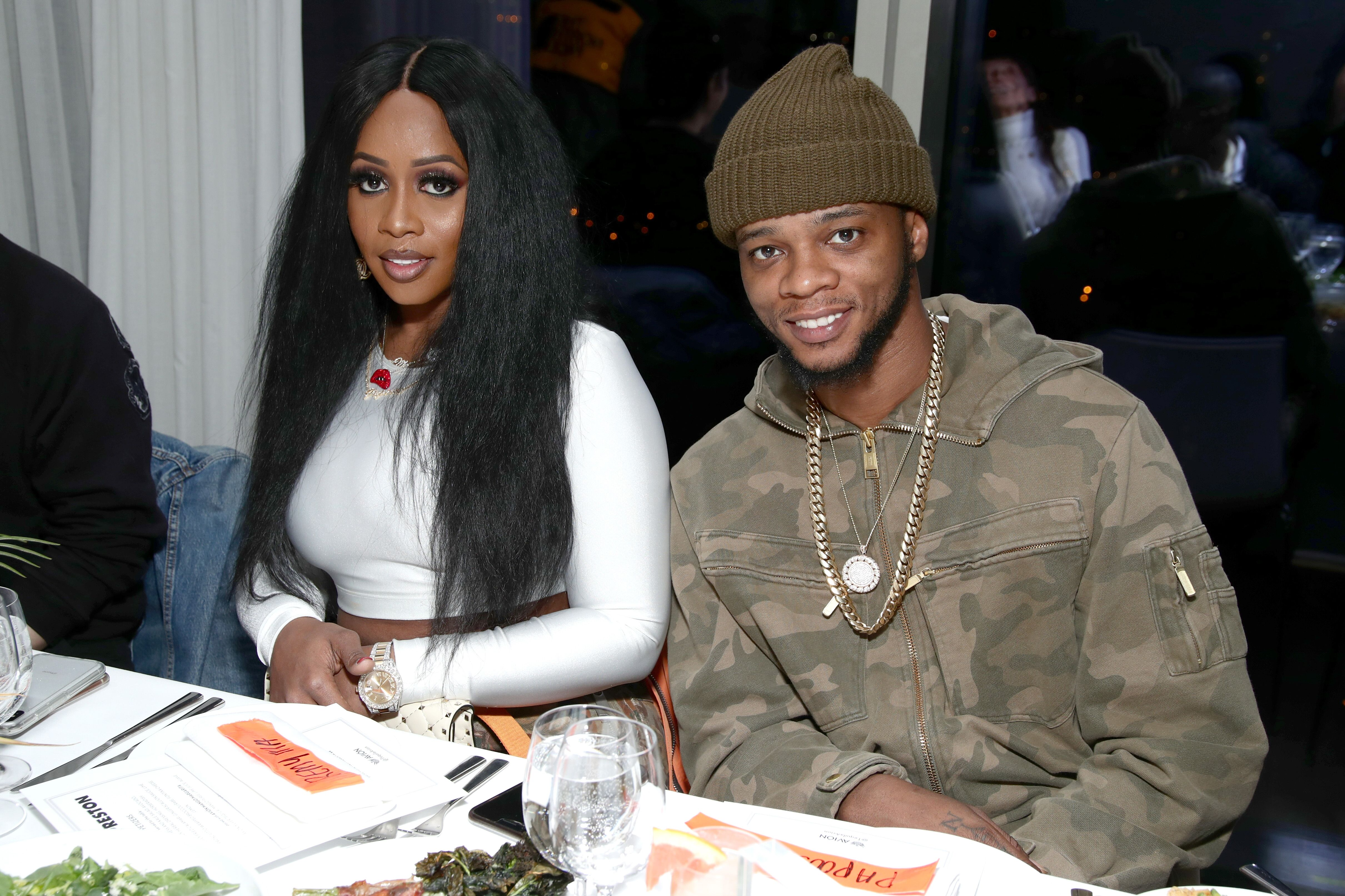 Remy Ma and Papoose at a dinner celebration | Source: Getty Images/GlobalImagesUkraine