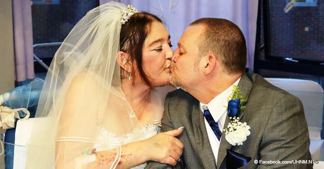 Mujer con cáncer hace boda en hospital y fallece apenas 6 días después